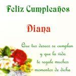 ¡Feliz Cumpleaños, Diana!   Imágenes para descargar y enviar gratis