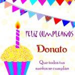¡Feliz Cumpleaños, Donato! | Imágenes para descargar y enviar gratis