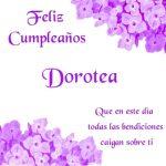 ¡Feliz Cumpleaños, Dorotea! | Imágenes para descargar y enviar gratis