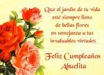 Feliz cumpleaños, abuelita (imágenes con frases para descargar gratis)