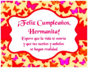 Imágenes de Feliz Cumpleaños Hermana para Descargar (2)
