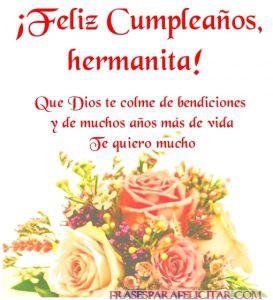 Imágenes de Feliz cumpleaños Hermana con flores (2)