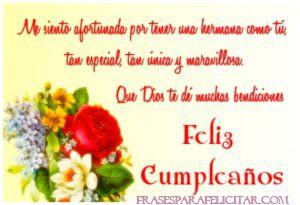 Imágenes de Feliz cumpleaños Hermana con flores (4)
