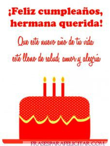 Imágenes de Feliz cumpleaños Hermana con frases (3)