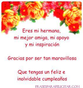 Imágenes de Feliz cumpleaños Hermana con frases (4)