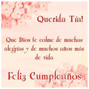 Imágenes de Feliz cumpleaños Tía con flores (1)