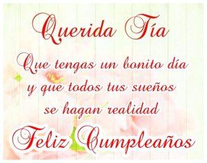 Imágenes de Feliz cumpleaños Tía con flores (3)