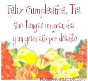Imágenes de Feliz cumpleaños Tía con flores (4)