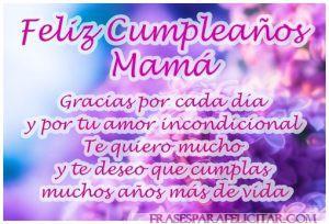 Imágenes de feliz cumpleaños mamá con frases bonitas (6)