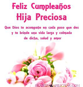 Tarjetas De Feliz Cumpleaños Con Bendiciones Para Una Hija